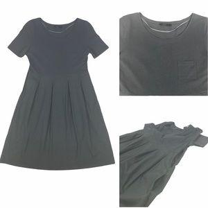 NWOT COS  Mixed Media Slate Grey Midi Dress